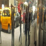 Reflet et taxi
